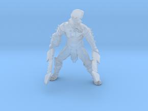 Wolf Gladiator miniature model fantasy dnd rpg gam in Smooth Fine Detail Plastic
