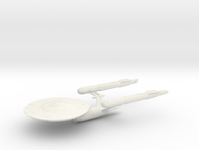 ISS Defiant - Wireframe Original / 15.2cm - 6in in White Natural Versatile Plastic
