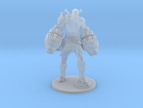 Kratos god of war Nemean Cestus miniature games in Smooth Fine Detail Plastic