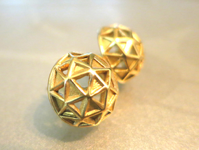 Icosphere Stud Earring in 18K Gold Plated