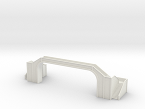 Railway Foot Bridge long 1/144 in White Natural Versatile Plastic
