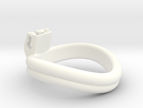 Cherry Keeper Ring - 57mm Double -6° in White Processed Versatile Plastic