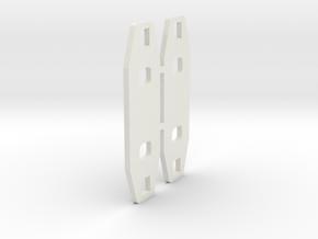KYOSHO TRIUMPH BATTERY STOPPER PLATE  in White Natural Versatile Plastic