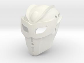 Kanohi Ekore, Mask of Intangibility (Toa Tuyet) in White Natural Versatile Plastic