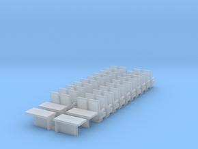 H0 Bpmz Sitze Einzeln 2+2+Tische in Smooth Fine Detail Plastic