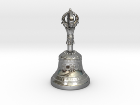 Miniature Dilbu (Bell) in Polished Silver