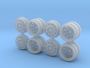 31D Greenlight Dually Driver Wheels in Smooth Fine Detail Plastic