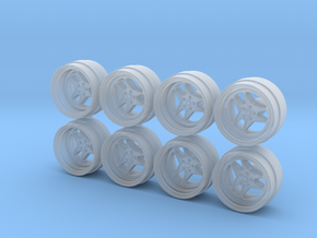 RF UCF 9-0 Hot Wheels Rims in Smooth Fine Detail Plastic