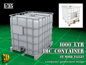 1000-ltr IBC liquid container (1:35) in Smooth Fine Detail Plastic