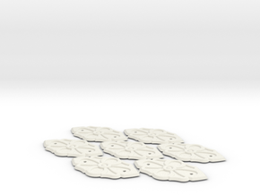 Trunk ornament, 7 pcs in White Natural Versatile Plastic