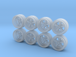 RForm Fuchs 9-0 Hot Wheels Rims in Smooth Fine Detail Plastic