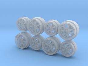 NSX Spec Mugen M7 Hot Wheels Rims in Smooth Fine Detail Plastic