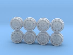 Mugen NR10 7.3mm Hot Wheels Rims in Smooth Fine Detail Plastic