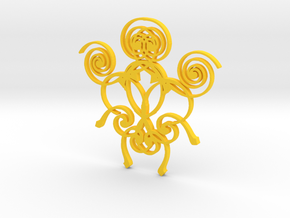 Swirl Pendant in Yellow Strong & Flexible Polished