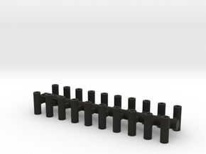 N Scale Axle Muff for Bachmann 20PK in Black Natural Versatile Plastic