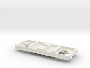 TOMY-Trackmaster Small Coach Conversion Base in White Natural Versatile Plastic