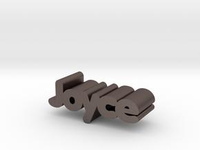 Joyce in Polished Bronzed Silver Steel