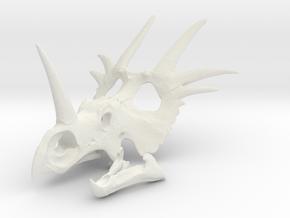 Styracosaurus Skull- 1/18th scale replica in White Natural Versatile Plastic: 1:12