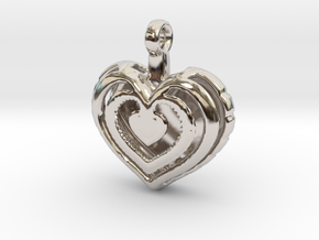 Heart Pendant 'Mylène' in Platinum