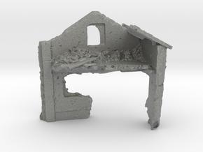 1/144 Brick Building Ruin in Gray PA12
