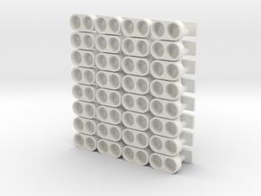 32 ganci magnetici per magneti 2mm∅ x 1mm spessore in White Natural Versatile Plastic