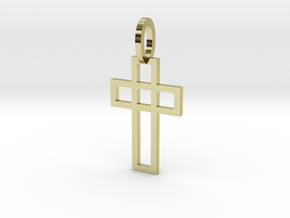 Cruz elegante Ouro 18K in 18k Gold