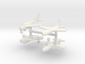 1/285 Experimental Aircraft Set 6 in White Natural Versatile Plastic