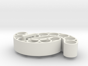 OD50-Tungsten PINEWOOD support -V1 - x2 in White Natural Versatile Plastic