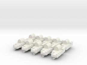 Small Naval Port x10  in White Natural Versatile Plastic