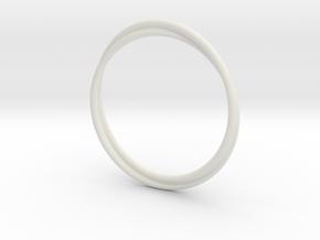 Infinity Bracelet in White Natural Versatile Plastic