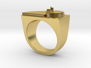 Golden Ratio Ring in Polished Brass: 8 / 56.75