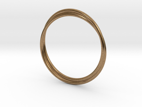 Infinity Bracelet in Natural Brass