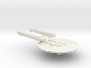 3788 Scale Federation Medium Cruiser (CM) WEM in White Natural Versatile Plastic