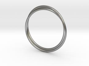 Infinity Bracelet in Natural Silver