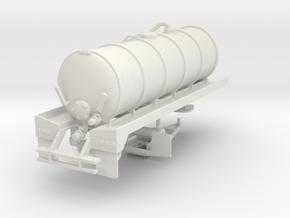 1/64th 20' Liquid Manure fertilizer tanker trailer in White Natural Versatile Plastic