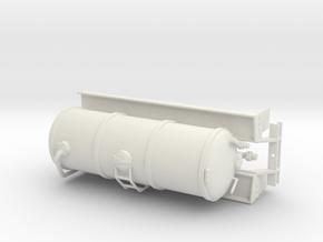 1/50th Liquid Manure Fertilizer tanker body in White Natural Versatile Plastic