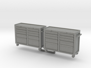 Rolling Tool Cabinet 01. 1:24 Scale  in Gray PA12