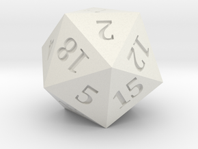 D20 - Magic Wand Symbol Logo in White Natural Versatile Plastic
