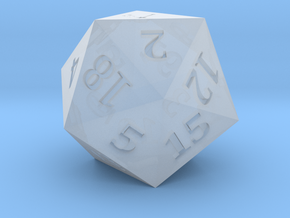 D20 - Magic Wand Symbol Logo in Smoothest Fine Detail Plastic