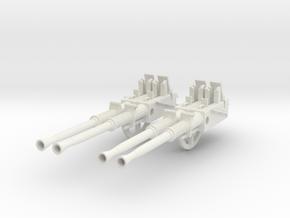 1/6 USN 40mm Quad Bofors Barrels Set v2 in White Natural Versatile Plastic