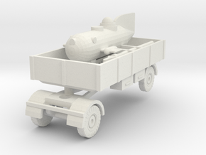 1/144 Grundhai and transport trailer in White Natural Versatile Plastic
