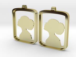 Lady in a Box in 18k Gold Plated Brass