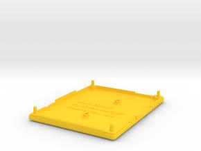 Joy-Control 64 - Gehäuse-Unten v1.2 in Yellow Processed Versatile Plastic