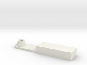 elbow_bearing_inside_motor in White Natural Versatile Plastic