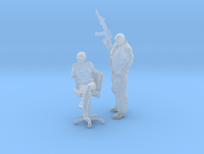 Printle CM Couple 166 - 1/87 - wob in Smooth Fine Detail Plastic
