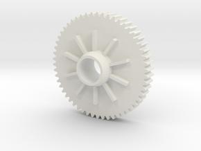 Spur gear 54t Arrma senton mega Mod 0.8 conversion in White Natural Versatile Plastic