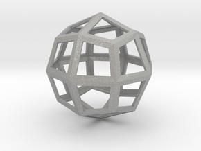 Icositehedron Pendant in Aluminum