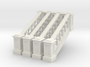 balustrade riser in White Natural Versatile Plastic