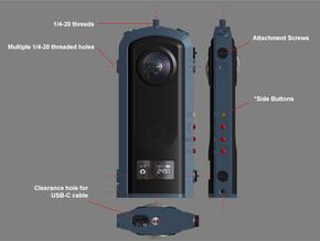 Cage for the Ricoh Theta Z1 camera. in Black Natural Versatile Plastic