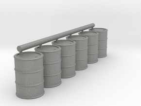 28mm 1/56 fuel barrels (bottom open) in Gray PA12